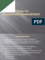 TOPIC 1 - Classroom Management - 2015
