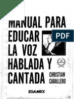 Manual Para Educar La Voz