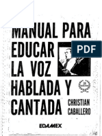 Manual Para Educar La Voz