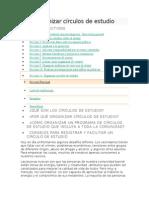 Organizar Círculos de Estudio