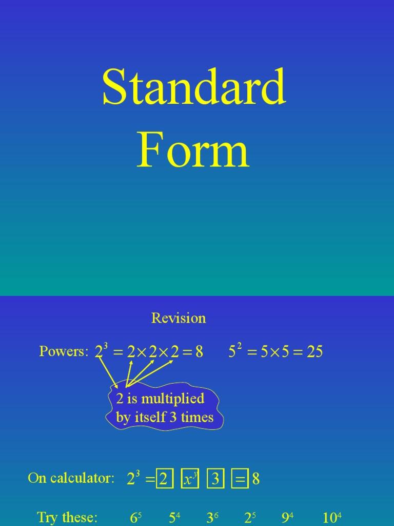 Standard form form 4 decimal arithmetic falaconquin