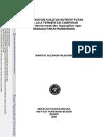 Peningkatan Kualitas Nutritif Putak Melalui Fermentasi Campuran Trichoderma Reesei Dan Aspergillus Niger Sebagai Pakan Ruminansia