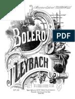Leybach - 90 Deuxieme Bolero Brillant Op.90 - 4H