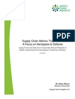 Metrics That Matter Aerospace and Defense Supply Chain Insights Research