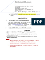 PROJECT Guidelines Learning Point