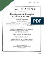 Nanny 10 etudes caprices Contrabass