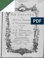 Six sonates à flûte, violon et violoncello  / Johann Baptist Wendling