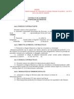 MODEL Contract Achizitie