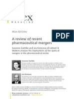 Review of Recent Pharma Mergers January 2011