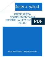 Postura Complementaria Sobre La Ley Ricarte Soto