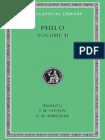 Philo volume II (LOEB 227). Cherubim, Sacrifices, The Worse Attacks, Posterity and Exile, Giants