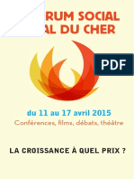 Tract du Forum Social Local du Cher 2015