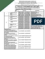 Structura an Universitar 2014-2015