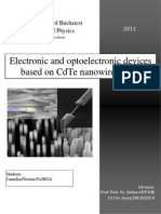Electronic devices based on CdTe nanowires