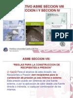 Comparativo ASME Sección I, IV y VIII