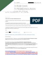 Contoh Rab Dan Gambar Pembangunan Lapangan Futsal
