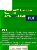Act 55c Science Test Practice 2010