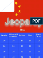 China Unit Test Review Jeopardy By Lindy McBratney