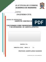 Cuestionario de Pavimentadoras