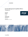 Incident Manager Capability Metrics