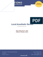 Anesthetic Review Local