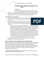 Food Vendor Assessment Survey Cheat Sheet