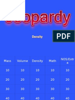Density Jeopardy Review