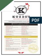 Kuzzo's Menu