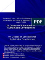 Trina Supit's 2009 presentation on UNESCO's Decade of Education for Sustainable Development