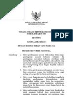 UU No.13 Tahun 2003 Tentang Ketenagakerjaan