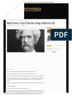 Mark Twain's Top 9 Tips for Living a Kick-Ass Life - Expanded Consciousness