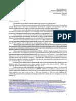 Officail letter - Mrs Jourová EC, Feb. 6, 2015.
