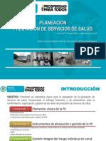 Planeación Prestación de Servicios