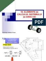 Tema 16 Elemente de Calcul Mecanism de Direcție