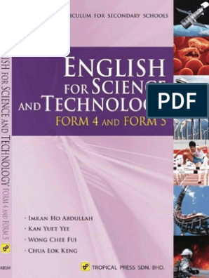 English For Science And Technology Form 4 Form 5 Kbsm Textbook