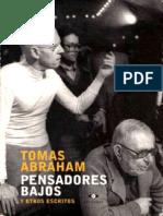 Tomás Abraham - Pensadores Bajos