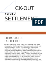 Assignment on Check-out and Settlement