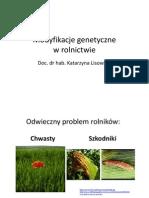 Lisowska Modyfikacje genetyczne w rolnictwie