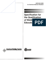 Pubs.aws.Org Content Free Downloads Aws b5.5 Specification for the Qualification of Welding Educators