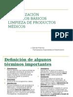 Esterilización Principios Básicos Limpieza de Productos Médicos1.2009