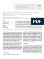 Effects of Thermal Aging on Transformation Temperatures and Some Physical