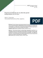 El Proyecto Fichteano de Un Derecho Penal Independiente de La Ética