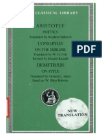Aristotle Poetics-Longinus on the Sublime-Demetrius on Style (1)