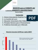 Patricio Meller - Debate Sobre Financiamiento Universitario