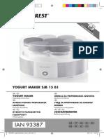 Manual utilizare- aparat iaurt- SILVER