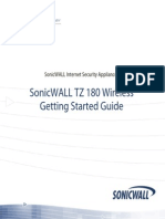 SonicWALL TZ 180 W Getting Started Guide