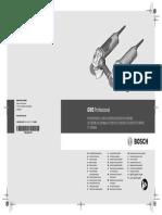 BOSCH Gws 9 125 Professional Manual