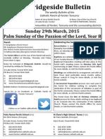 2015-03-29 - Passion Sunday B