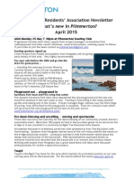 What's new in Plimmerton? April 2015 monthly newsletter