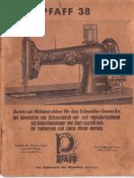 Pfaff 38 Gebrauchsanweisung (Deutsch)